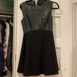 French Connection Black Leather Dress